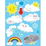 Die-Cut Magnets, Cute Weather