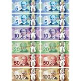Money Foam Manipulatives, Canadian Dollars