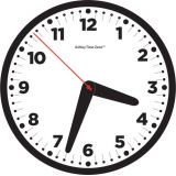 Ashley Time Zone™ 12 Basic Black Clock