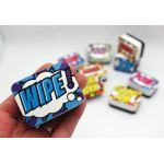 Non-Magnetic Mini Whiteboard Erasers, Superhero