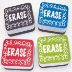 Non-Magnetic Mini Whiteboard Erasers, Chalk Loop