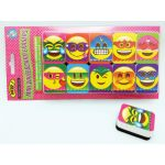 Non-Magnetic Mini Whiteboard Erasers, Super Emojis