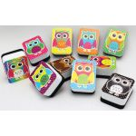 Non-Magnetic Mini Whiteboard Erasers, Color Owls