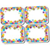 Non-Magnetic Mini Whiteboard Erasers, Confetti