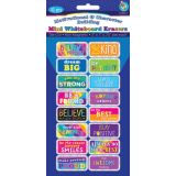 Non-Magnetic Mini Whiteboard Erasers, 16-Pack, Motivational & Character Building