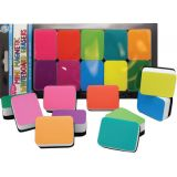 Magnetic Mini Whiteboard Erasers, Assorted Colors