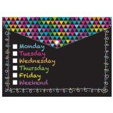 Smart Poly® Folder, Chalk Days of the Week