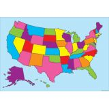 US Map 13 x 19 Smart Poly® Chart