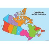 Canada Map 13 x 19 Smart Poly® Chart