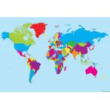 World Map 13 x 19 Smart Poly® Chart