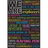 Chalk WE ARE Smart Poly™ Chart, 13x19