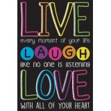 Chalk Live, Laugh, Love Smart Poly® Chart, 13 x 19