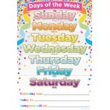 Confetti Days of the Week 13 x 19 Smart Poly™ Chart