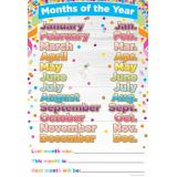 Confetti Months of the Year 13 x 19 Smart Poly® Chart