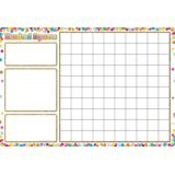 Confetti Hundred Squares 13 x 19 Smart Poly® Chart