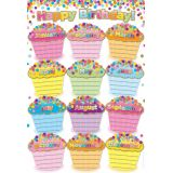 Confetti Birthdays 13 x 19 Smart Poly™ Chart