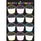 Chalk Dots Birthdays 13 x 19 Smart Poly® Chart