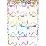 Confetti Lost Tooth 13 x 19 Smart Poly™ Chart
