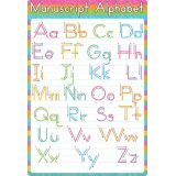 Manuscript Alphabet 13 x 19 Smart Poly® Chart