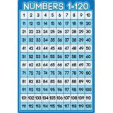 Numbers 1-120 13 x 19 Smart Poly® Chart