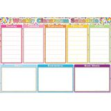 Confetti Weekly Schedule 13 x 19 Smart Poly® Chart