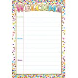 Confetti Welcome 13 x 19 Smart Poly® Chart