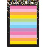 Black Confetti Class Schedule 13 x 19 Smart Poly® Chart
