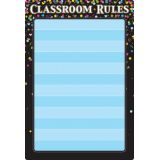 Black Confetti Classroom Rules 13 x 19 Smart Poly® Chart