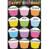 Black Confetti Birthdays 13 x 19 Smart Poly® Chart