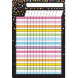 Black Confetti Incentive Chart 13 x 19 Smart Poly® Chart