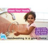 Smart Poly® Chart, Healthy Bubbles™, 13 x 19, Handwashing is a Good Choice