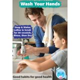 Smart Poly® Chart, Healthy Bubbles™, 13 x 19, Good Habits for Good Health