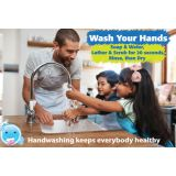 Smart Poly® Chart, Healthy Bubbles™, 13 x 19, Handwashing Keeps Everybody Healthy