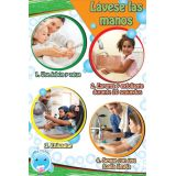Smart Poly® Chart, Healthy Bubbles™, 13 x 19, Spanish Version Wash Your Hands