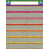 Smart Poly® Pocket Chart, 7 Pockets, Burlap