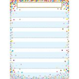 Smart Poly® Pocket Chart, 7 Pockets, Confetti