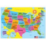 Smart Poly™ Double-Sided Learning Mat, US Map Basic