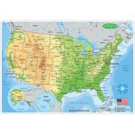 Smart Poly® Double-Sided Learning Mat, US Map Physical