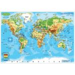 Smart Poly™ Double-Sided Learning Mat, World Map Physical