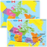 Smart Poly® Double-Sided Learning Mat, Canada Map Basic