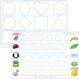 Smart Poly® Double-Sided Learning Mat, Prewriting/Shapes