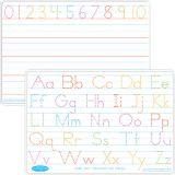 Smart Poly® Double-Sided Learning Mat, Manuscript Handwriting