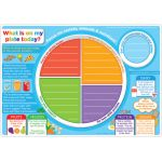 Smart Poly® Double-Sided Learning Mat, MyPlate.gov