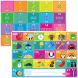 Smart Poly® Double-Sided Learning Mat, ABC/Numbers 1-20