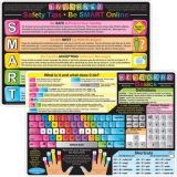 Smart Poly® Double-Sided Learning Mat, Keyboard Basics/Internet Safety