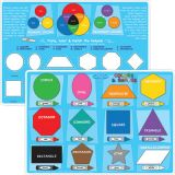 Smart Poly® Learning Mat, 12 x 17, Double-Sided, Colors & Shapes