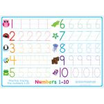 Smart Poly™ Double-Sided Learning Mat, Numbers 1-10