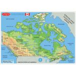 Smart Poly™ Double-Sided Learning Mat, Canada Map Physical