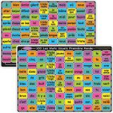 Smart Poly™ Double-Sided Learning Mat, French Sight Words 100 1st & 2nd Year
