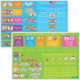 Smart Poly™ Double-Sided Learning Mat, US Currency, Coins & Bills